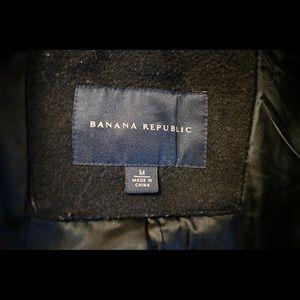 Banana Republic Jackets & Coats - Banana Republic Men's Black Peacoat classic